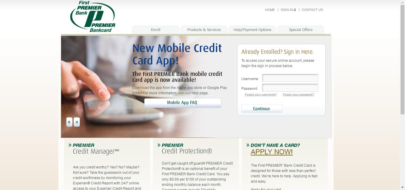 First Premier Credit Card Login   Make a Payment - CreditSpot