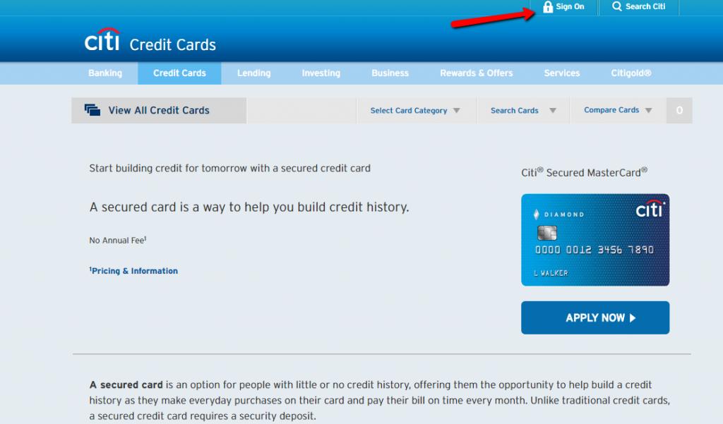Citi Mastercard Sign In >> Citi Secured Mastercard Login Make A Payment Creditspot