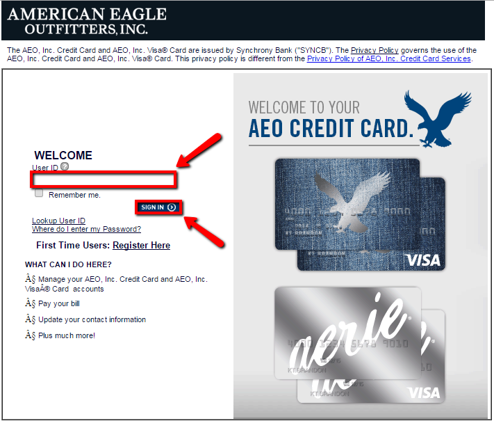 American Eagle Credit Card Login | Make a Payment - CreditSpot