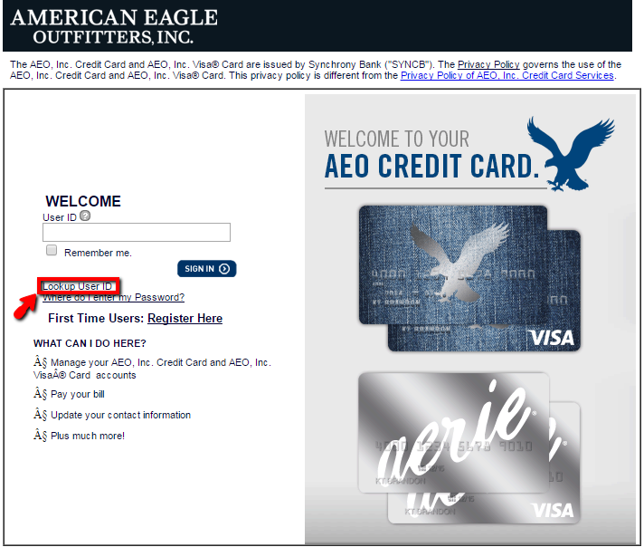 American Eagle Credit Card Login >> American Eagle Credit Card Login Make A Payment Creditspot