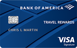 Picture of the Bank of America® Travel Rewards Visa® Credit Card front