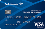 Picture of the BankAmericard Travel Rewards Credit Card front