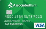Picture of the Associated Bank Visa Platinum Credit Card front