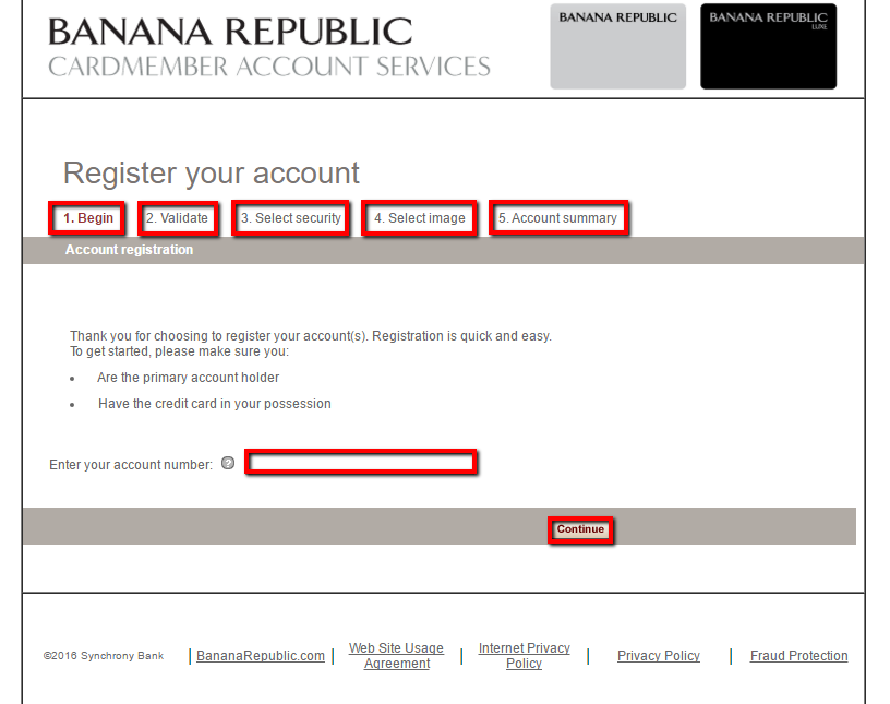 Banana Republic | Activate Your Card Online | Visa Credit Card Activation Posted | 0 comments Banana Republic offers their customers the option to get a Banana Republic online account.