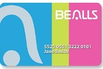 Picture of the Bealls Florida Credit Card front