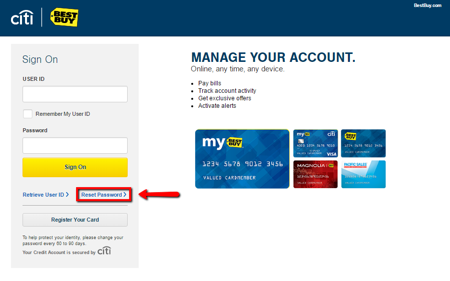 Best Buy Credit Card Login   Make a Payment -