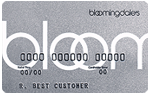 Picture of the Bloomingdale's Credit Card front