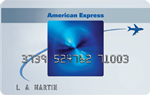 Picture of the Amex Blue Sky Credit Card front