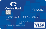Picture of the Central Bank Visa Classic Credit Card front