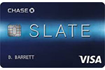 Picture of the Chase Slate Credit Card front