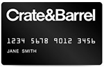 Picture of the Crate and Barrel Credit Card front