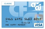 Picture of the CFCU Visa Classic Credit Card front