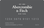 Picture of the Abercrombie and Fitch Credit Card front