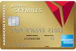 Picture of the Gold Delta SkyMiles® Credit Card from American Express front