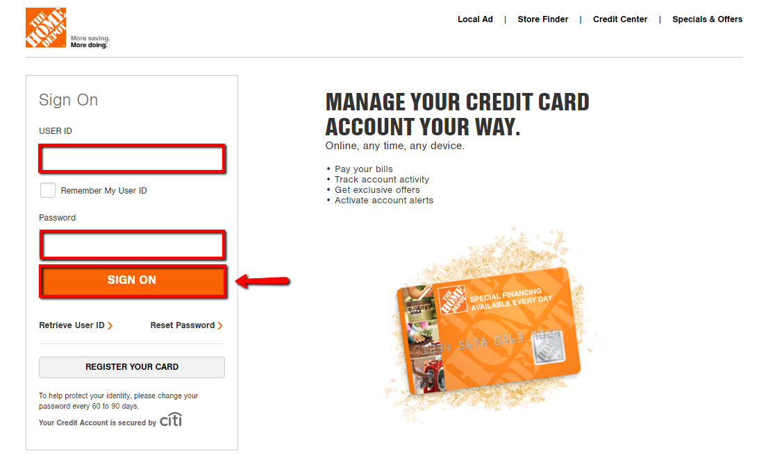 Home Depot Credit Card Login | Make a Payment - CreditSpot