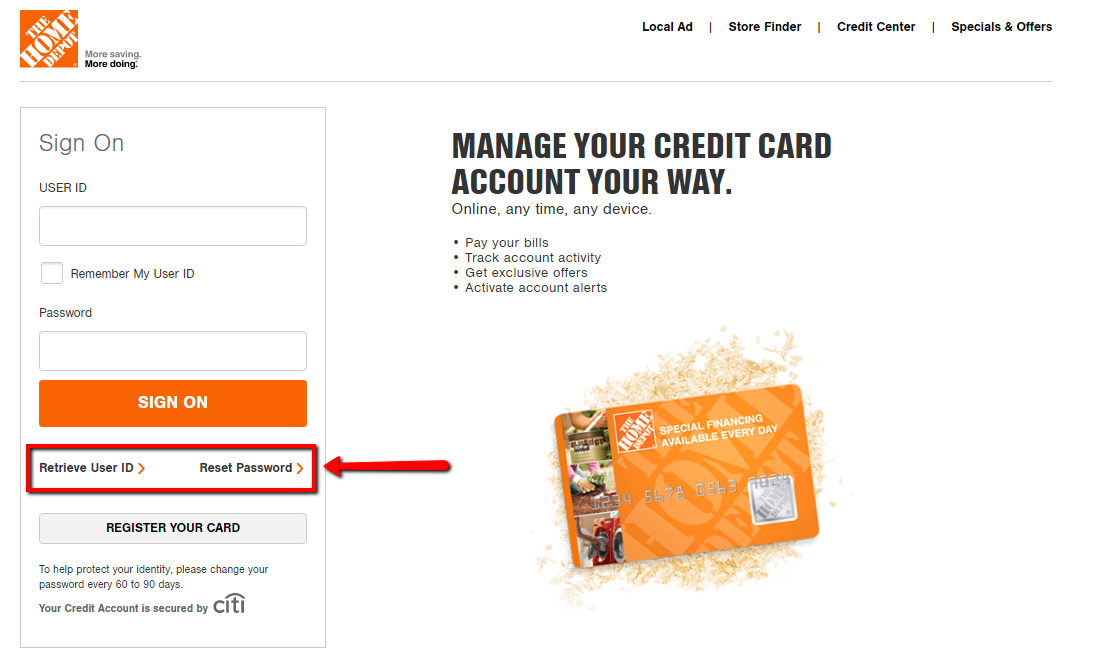 Office Depot Credit Card Payment