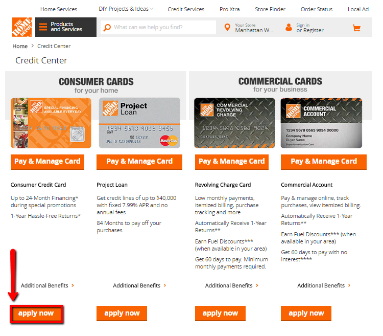 How To Apply To Home Depot Credit Card