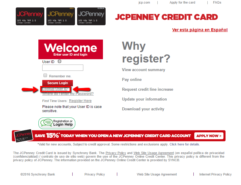 Bp Credit Card Login Synchrony: Jcp Credit Card