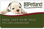 Picture of the Petland Credit Card front