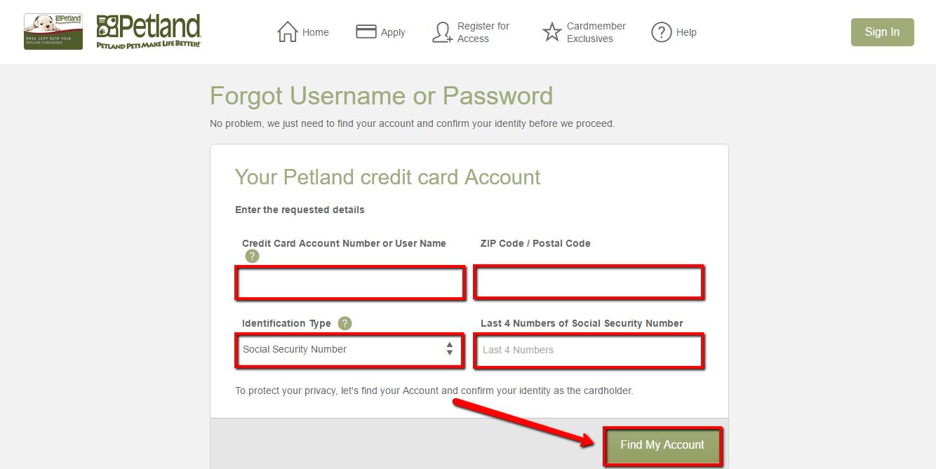 Petland Credit Card Login | Make a Payment - CreditSpot