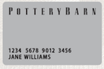 Picture of the Pottery Barn Credit Card front