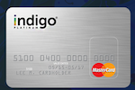 Picture of the Indigo Platinum MasterCard front