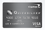 Picture of the Capital One Quicksilver Credit Card front