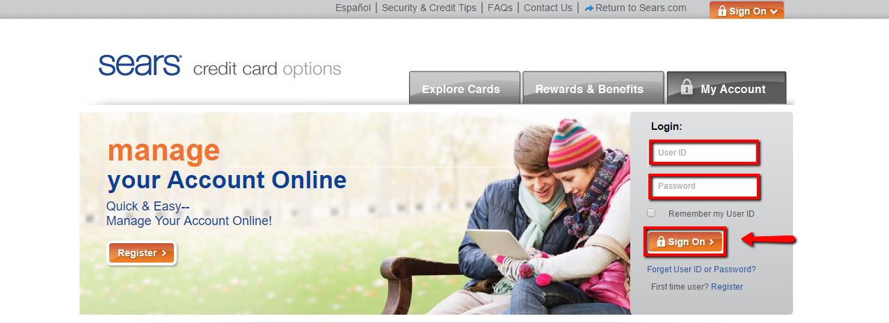 Sears Credit Card Login Citibank >> Sears Credit Card Login Make A Payment Creditspot