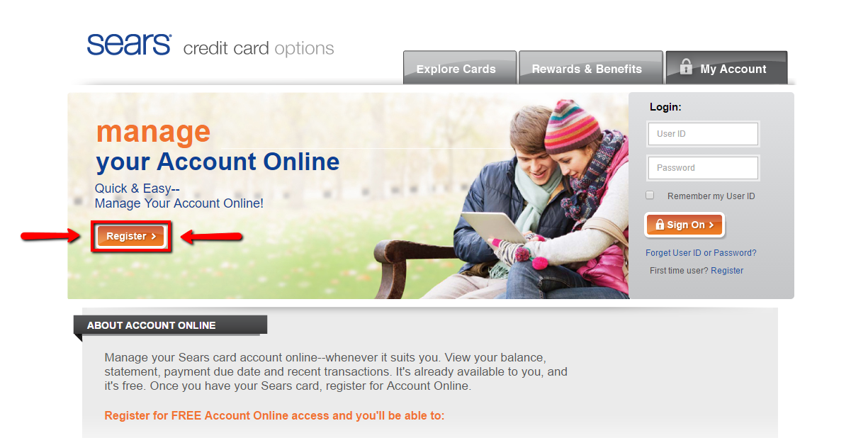 Sear credit card payment center