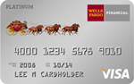 Picture of the Wells Fargo Platinum Visa Card front