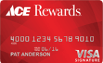 Picture of the Ace Hardware Rewards Visa Credit Card front