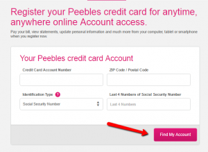 Peebles Credit Card Login Make A Payment Creditspot