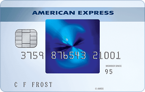 Picture of the American Express Blue Card front