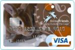 Picture of the Animal Friends Visa Credit Card front