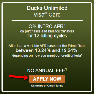 How to Apply to Ducks Unlimited Visa Credit Card ...