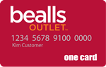 Picture of the Bealls Outlet Credit Card front