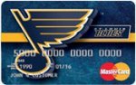 Picture of the St. Louis Blues Mastercard front