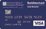 Picture of the ACEP BankAmericard Cash Rewards Visa Credit Card front