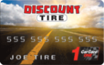 Picture of the Discount Tire Credit Card front