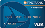 Picture of the PNC CashBuilder Visa Credit Card front