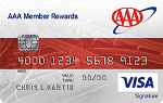 Picture of the AAA Member Rewards Credit Card front