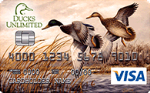 Picture of the Ducks Unlimited Visa Credit Card front