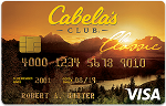 Picture of the Cabela's Club Visa Credit Card front