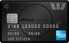 Picture of the Westpac Altitude Black Credit Card front