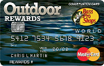 Picture of the Bass Pro Shops Outdoor Rewards Credit Card front