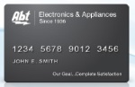Picture of the Abt Electronics Credit Card front