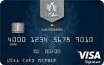 Picture of the USAA Rewards Visa Signature Card front