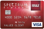 Picture of the BB&T Spectrum Rewards Credit Card front