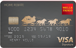 Picture of the Wells Fargo Home Rebate Visa Signature Card front