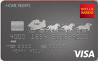 Picture of the Wells Fargo Home Rebate Visa Card front